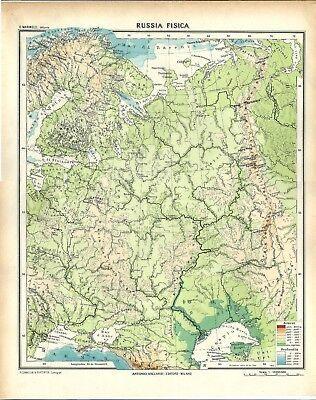 Cartina Russia Da Stampare.Carta Geografica Antica Russia Europea 1939 Old Antique Map Ebay