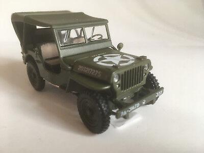 1//43 Cararama Willys Jeep Militär grün 4-90180