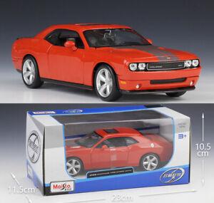 Maisto-1-24-Dodge-2008-Challenger-Srt8-Lega-Modellino-Auto-Modello-Giocattolo