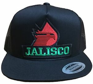 JALISCO PEMEX MEXICO BASEBALL HAT MESH TRUCKER COLOR BLACK SNAP BACK ... 7395e492311