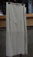 Joseph Ribkoff 10 Fabulous Long Ivory Beige Evening Skirt Diamante & Slits