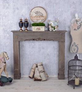 console de cheminée déco maison campagne bois Manteau la murale | eBay