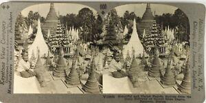 Myanmar-Birmanie-Burma-Photo-Stereo-Vintage-Argentique-PL62L6
