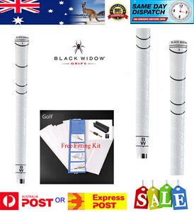 New-Standard-Size-BLACK-WIDOW-Hybrid-White-Golf-Grips-Amazing-Price-Drop