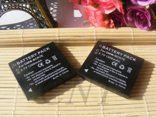 1200mAh 2x Batería recargable para Panasonic Lumix DMC-FP5 Lumix DMC-FT30