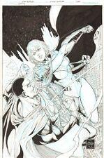 Earth 2: Society #3 Variant Cover - Power Girl vs Val-Zod 2015 Ethan Van Sciver