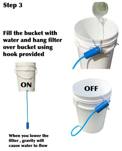 # 6 in 1 Survival Gravity Water Filter Kit 3500 Litres Camping Emergency Hiking
