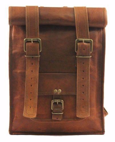 New Men Leather Backpack Bag Rucksack Messenger Laptop Satchel Genuine Vintage