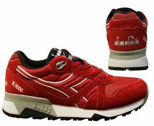 Diadora N9000 Nyl II Red Mesh Suede