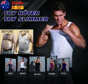 Mens-Slimming-Body-Shaper-Underwear-Corset-Compression-Vest-Singlet-Dad-Bod-Xmas