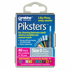 Piksters Interdental Brushes, Size 0 - Grey (40 Pack)