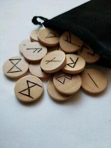 Wooden-Runes-Handmade-Elder-Futhark-Wood-Norse-Runes-Viking-Runes