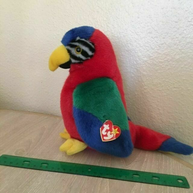 TY Beanie Buddy - MWMT/'s Stuffed Animal Toy 9 inch JABBER the Parrot
