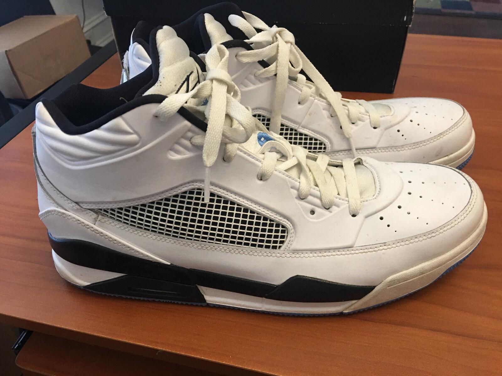 c791edba697 Nike Air Jordan Flight White Black Baby Blue Mens Size 13 US 654262 ...