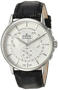 NEW-Edox-Les-Bemonts-Men-039-s-Perpetual-Calendar-Watch-01602-3-AIN