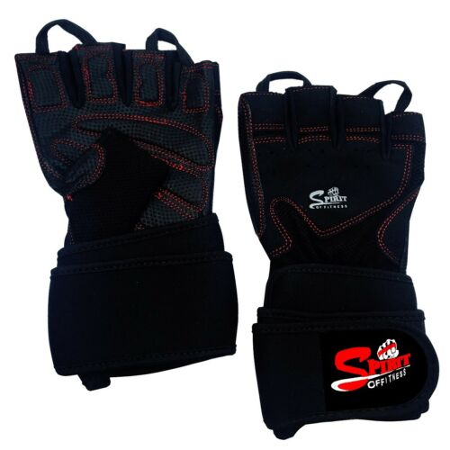 NEW WEIGHT LIFTING GLOVES BODYBUILDING GYM FITNESS SLIM FITTING LEATHER GLOVES