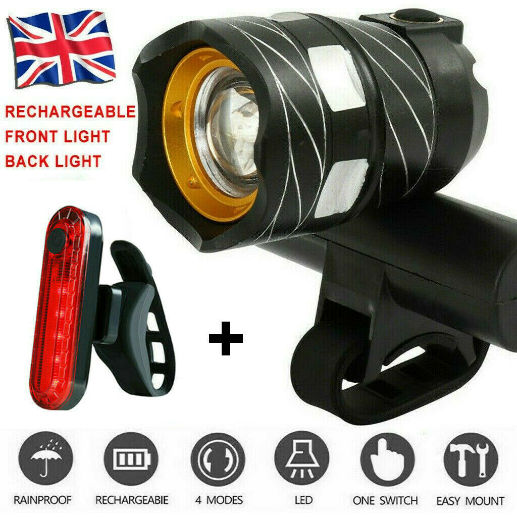 Bicycle Bike T6 LED Front Light Headlight Lamp USB Rechargeable  Cycling Lights