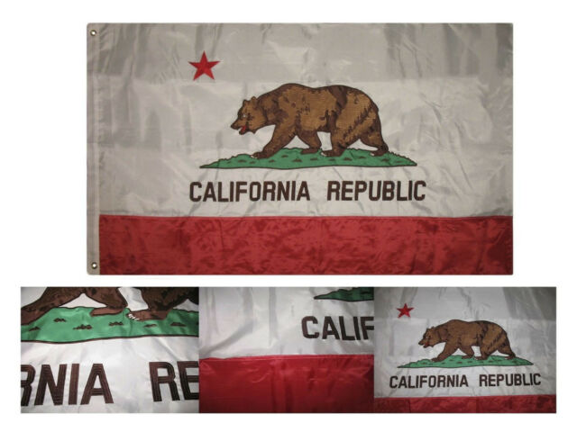 3x5 California State Flag Indoor Outdoor State of California FAST USA SHIPPING