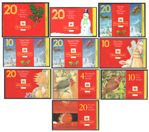 LX1-to-LX10-Christmas-Plain-Booklets-unmounted-mint-Each-sold-separately