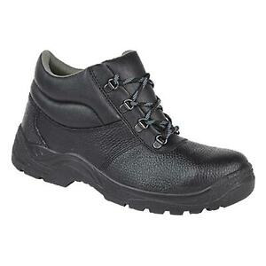 Mens Cheap Leather Steel Toe Work Boots