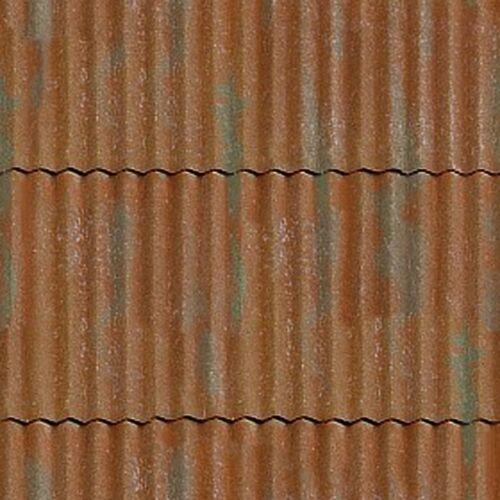 # 4 SHEETS MATT VINYL WATERPROOF SELFADHESIVE iron 1//12  corrugated roof  iron