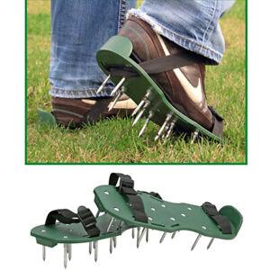 Rasenbeluefter-Sandalen-Vertikutierer-Rasen-Nagelschuhe-Rasenluefter-Stachelschuhe