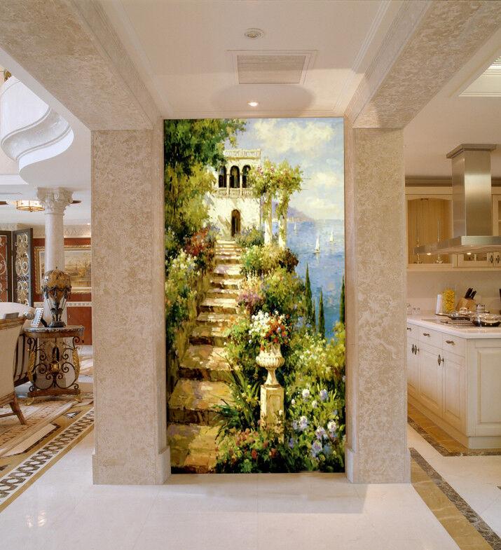 3D paesaggio mare Parete Murale Foto Carta da parati immagine sfondo muro stampa