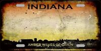 Indiana Rusty State Background Novelty Metal License Plate