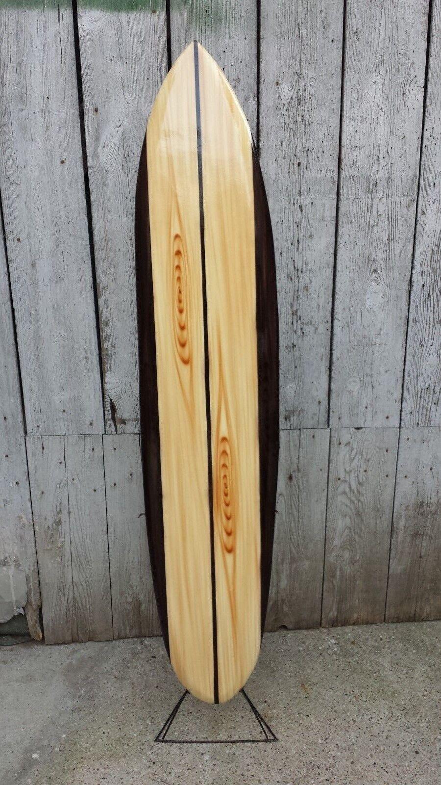SU130 N15   Deko Surfboard 130 cm aus Holz Retro Surfbrett Board surfen vintage