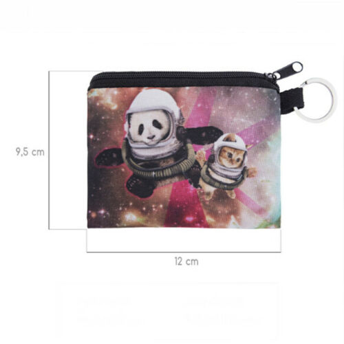 3D Panda Women Coin Key Holder Zipper Purse Wallet Pouch Money Change Bag 6A