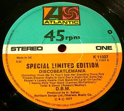 "D.B.M.Discobeatlemania 12""Ltd.Ed.UK ORIG'77 Atlantic DBM Disco Beatlemania VINYL"