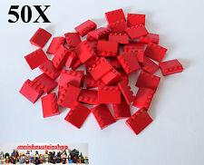 50X Lego® 3297 Basic Dachsteine, Dachziegel, Slope, Roof Tile, 25° 3X4 Rot, Red
