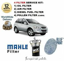 FOR SSANGYONG KYRON 2.0 DT 01/2006-> OIL AIR FUEL POLLEN FILTER SERVICE KIT