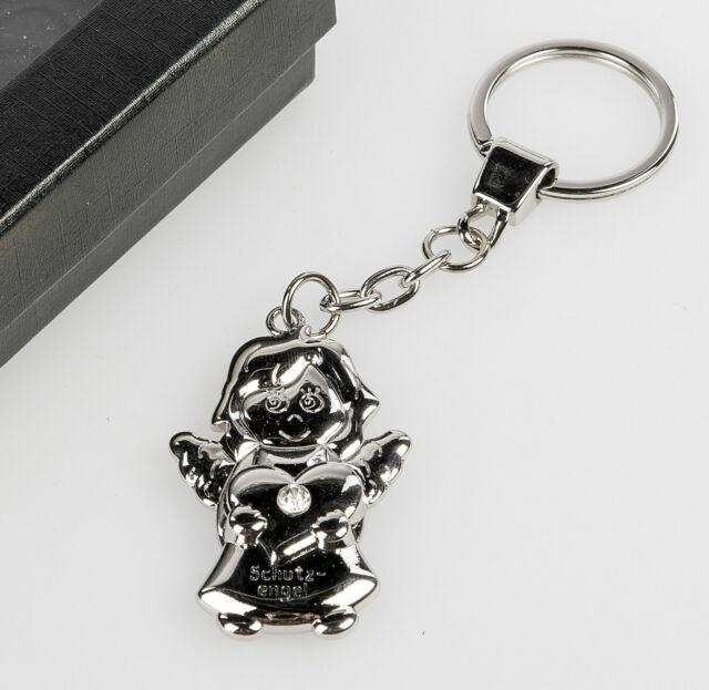 Schlüsselanhänger Schutzengel mit Herz glänzend von FORMANO Art. 655271