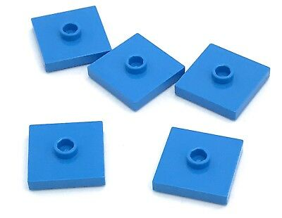Lego 5 New Dark Tan Plates Modified 2 x 2 with Groove 1 Stud in Center Jumper