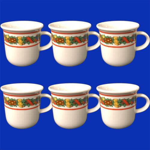 6x Arzberg Porzellan Kaffeebecher Daily Weihnachtskranz Henkelbecher 0,28 l