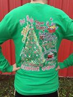 Girlie Girl Originals Christmas Lovin' Youth Long Sleeve T-shirt Green