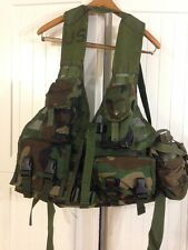 US Military FLC Tactical Vest Woodland Camo MOLLE II  Military Surplus