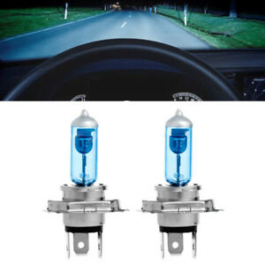 2-x-H4-6000K-Xenon-Gas-Halogen-Headlight-Super-White-Light-Lamp-Bulbs-100W-12V