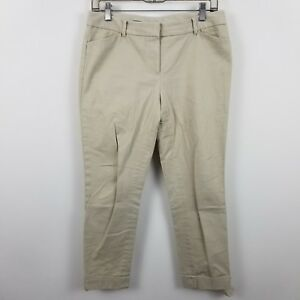 Brooks-Brothers-Women-039-s-Beige-Casual-Chino-Crop-Pants-Sz-4