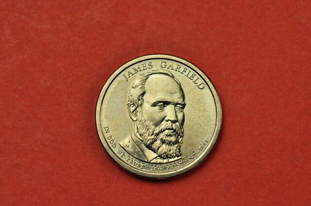 2011 P Position B BU James Garfield Presidential Dollar Choice Uncirculated US Mint