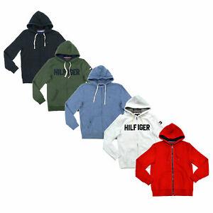 Tommy-Hilfiger-Mens-Sweatshirt-Full-Zip-Jacket-Flag-Logo-Hoodie-Outerwear-New-Th