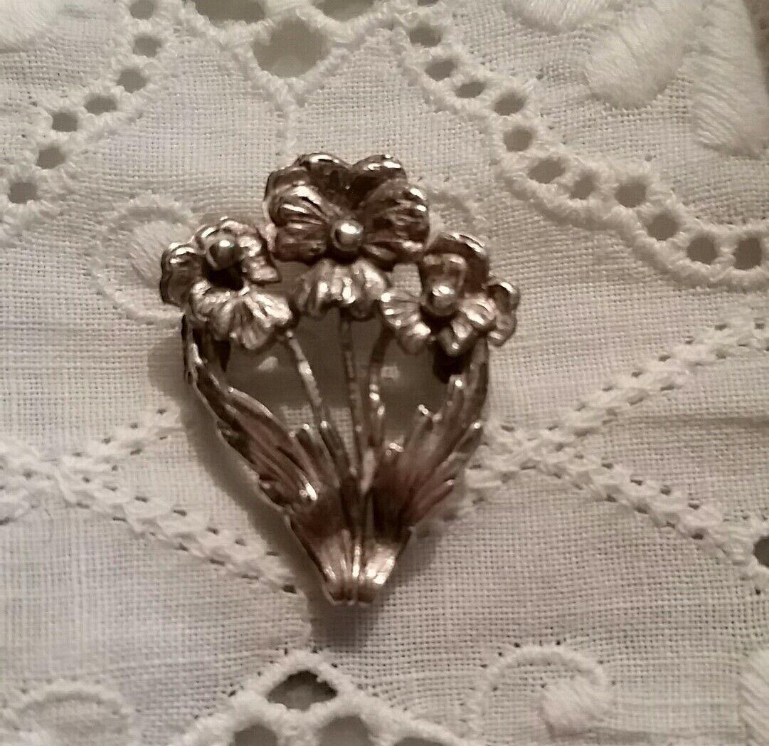 Vintage Pansy Brooch Enamel Gold White Violet Vio… - image 10