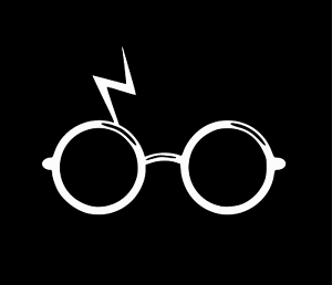 Harry Potter Glasses Decal Sticker for Car Window Laptop Room Decoration