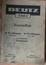 TRATTORI DEUTZ F 2 L 612/6, F 2 L 612/5 RICAMBIO elenco