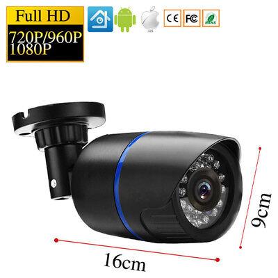 CCTV 1080P HD Outdoor Camera Bullet NightVision P2P IP POE Cam ONVIF IRCut Xmeye