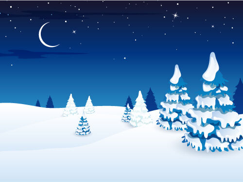 3D Die Nacht der schnee 474 Fototapeten Wandbild BildTapete AJSTORE DE Lemon