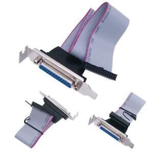 Lpt1-Parallel-Port-Printer-I-O-ADATTATORE-db25-to-IDC-26pin-Slot-Plate-header