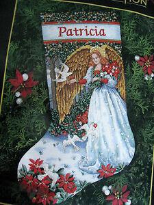 Christmas Needlepoint Dimensions Gold Stocking Kit Angel Of Serenity 9110 16 Usa 88677091101 Ebay