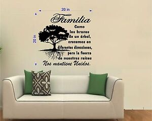 Image Is Loading Tree Wall Decal Art Sticker Arbol Familia